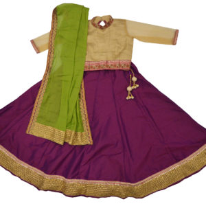 Purple-Beige Lehega Choli