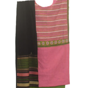 Pink Kurta-Green Bottom