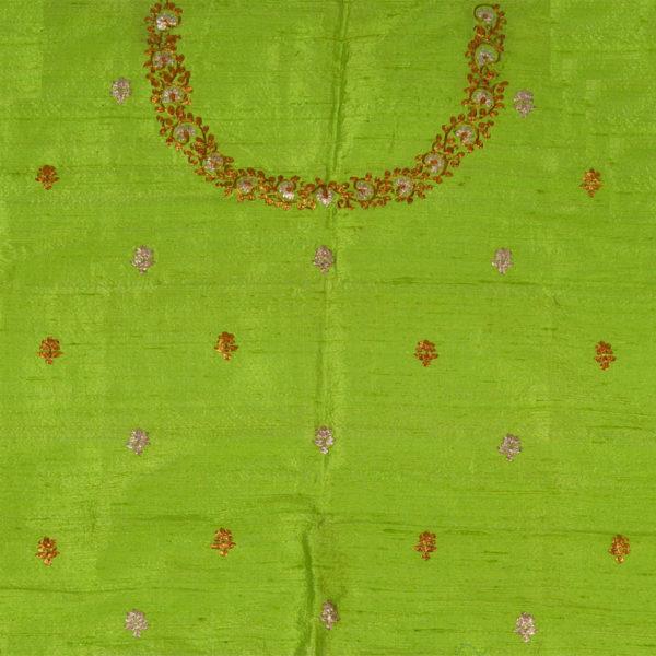 5ac1c6b4b3035 Light Green Raw Silk Blouse – Gunthan Chhotu