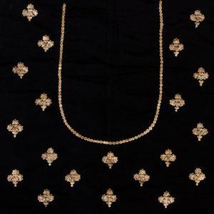 Black Cotton Silk Blouse