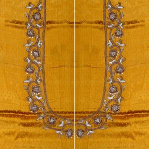 02bd8db06d8f5 GB-17-183 Quick View. Ocher Yellow Gaji Silk Blouse