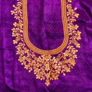 32fa885e2529e GB-17-242 Quick View. Purple Gaji Silk Blouse