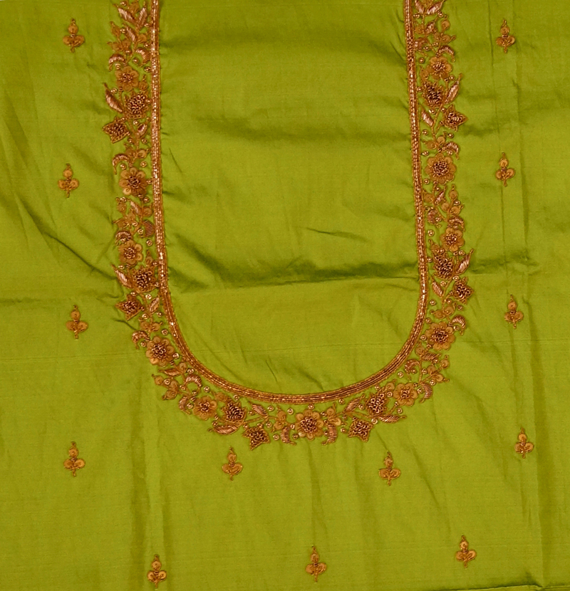 011482a64ba4c Green Silk Blouse – Gunthan Chhotu