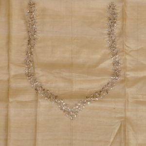 Beige Tussar Silk Blouse