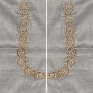 Silver Tissue Silk Blouse